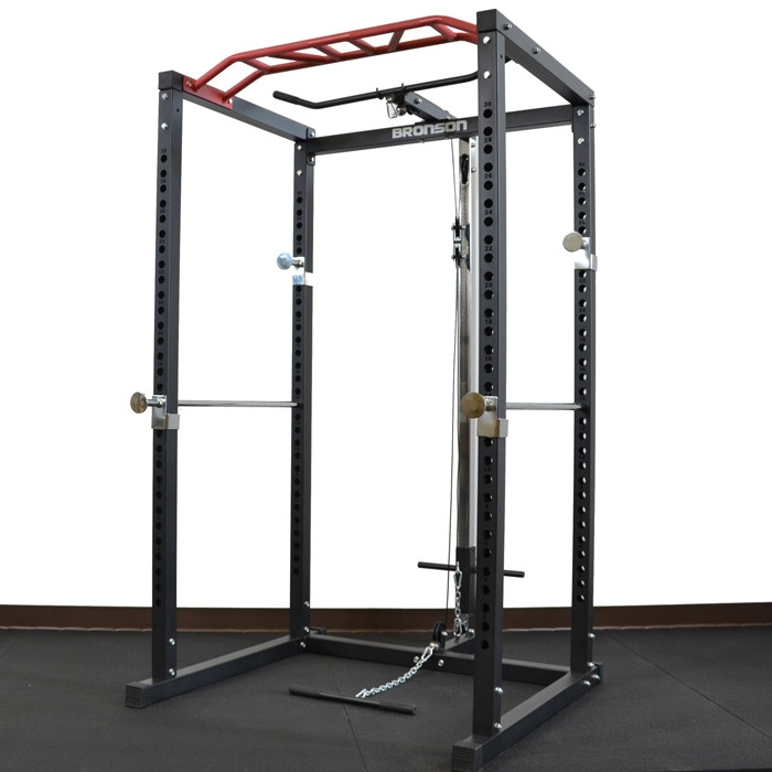 Power Rack With Lat Pulldown Attachment by BRONSON