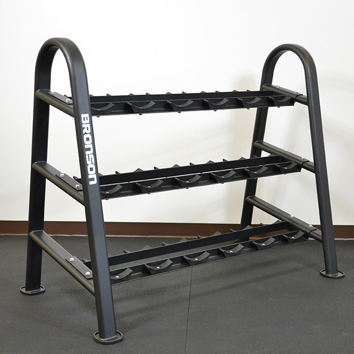 Heavy Duty Commercial 3-tier Dumbbell rack by BRONSON